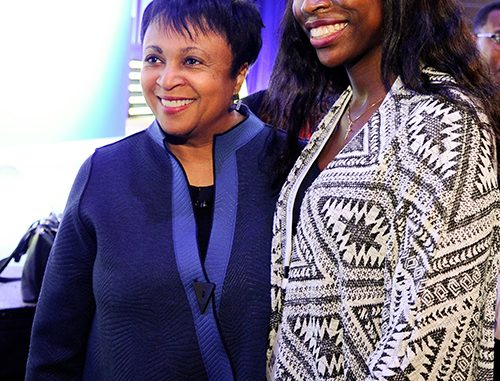Librarian of Congress Carla Hayden and 2017 attendee