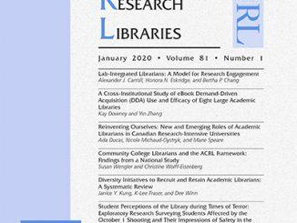 C&RL cover, January 2020