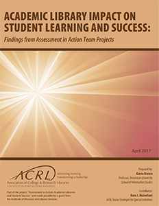 Academic Library Impact on Student Learning and Success cover