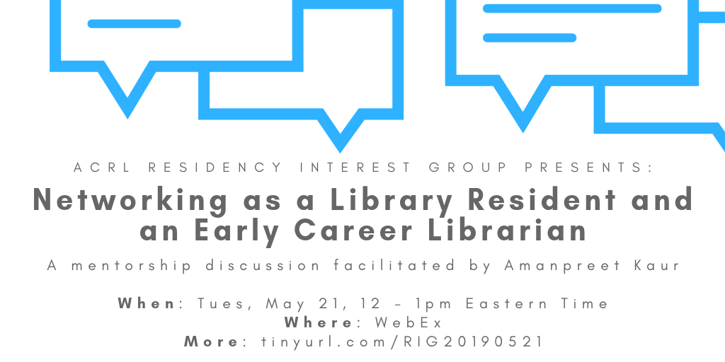 Networking as a library resident and an early career librarian