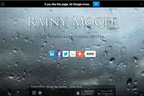 rainy mood website