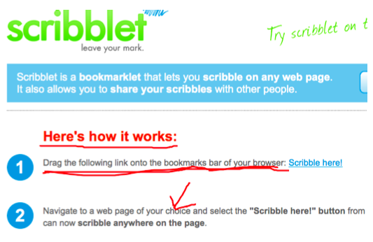 scribblet website
